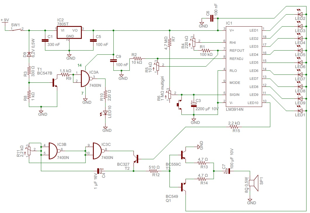 Simple timer with LM3914